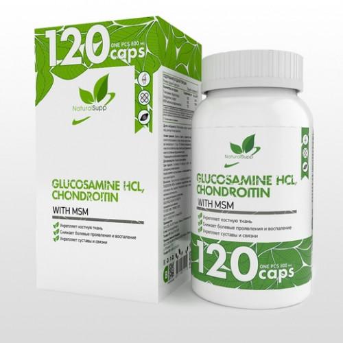 NaturalSupp Glucosamine HCL, Chondroitin, MSM 120к