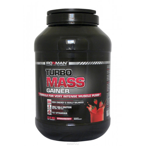 Гейнеры Ironman Турбо Масс Гейнер 2,8 кг «Килоспорт»