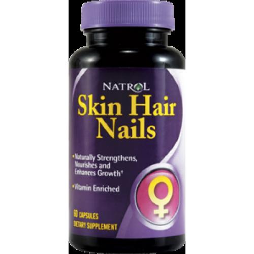 Витамины и минералы Natrol Skin Hair Nails Women`s 60к «Килоспорт»