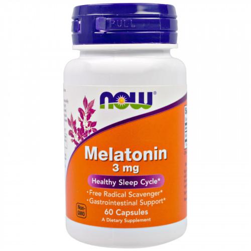 Специальные препараты NOW Melatonin 3 мг 60К «Килоспорт»