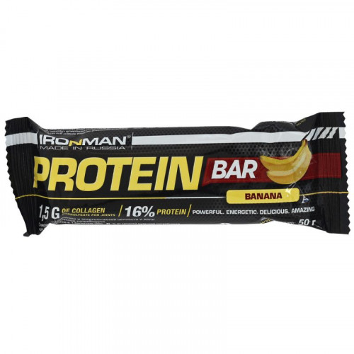 Батончики Протеиновый батончик Ironman Protein Bar 50г «Килоспорт»