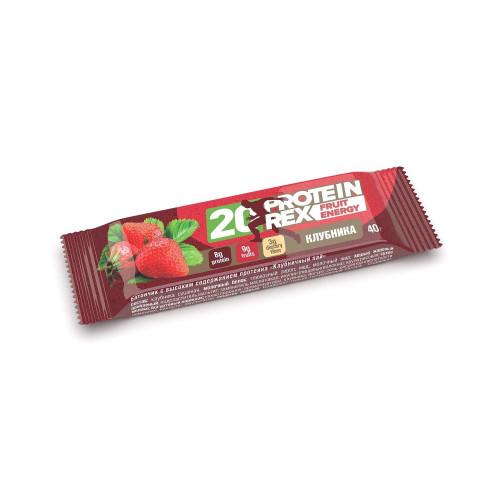 """ProteinRex """"Клубничный пай"""", 20% протеина, 40 г"""