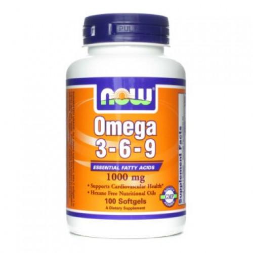 Специальные препараты NOW Omega 3-6-9 1000мг  100 капс «Килоспорт»