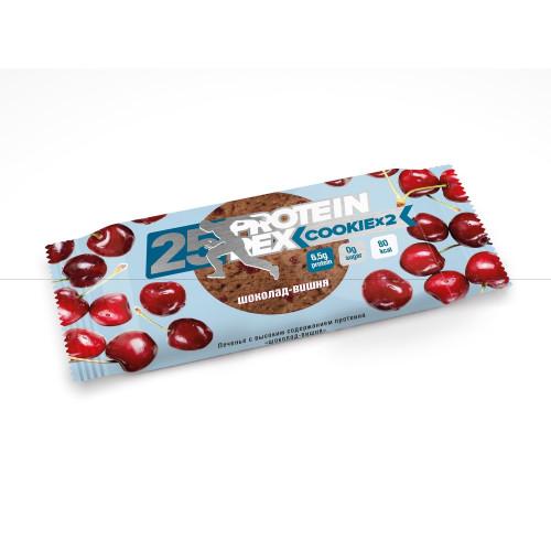 Протеиновое печенье ProteinRex «Шоколад-вишня», 25% протеина, 50 г