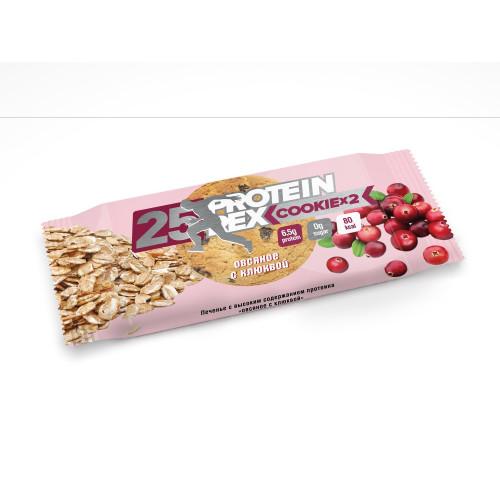 Протеиновое печенье ProteinRex «Овсяное с клюквой», 25% протеина, 50 г