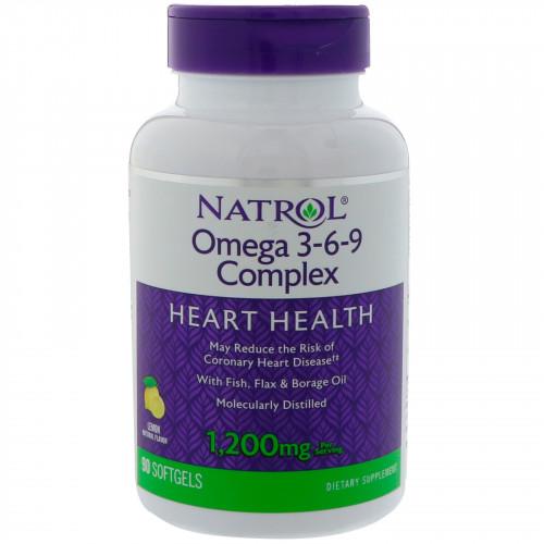 Специальные препараты Natrol Omega 3-6-9 Complex 60к «Килоспорт»